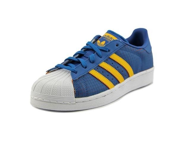 new style 74f01 bbc7f Adidas Superstar Youth US 5 Blue Sneakers - Newegg.com