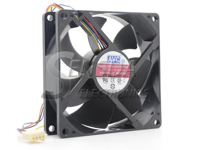 90*90*25mm 9025 0.6A 12V DC 4-Pin PWM Computer Cooling Fan For Delta AUB0912VH