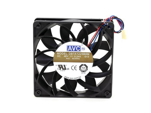 AVC DBTA1225B8M DC 48V 0 24A 12CM 12025 three-wire inverter cooling fans  blower - Newegg com