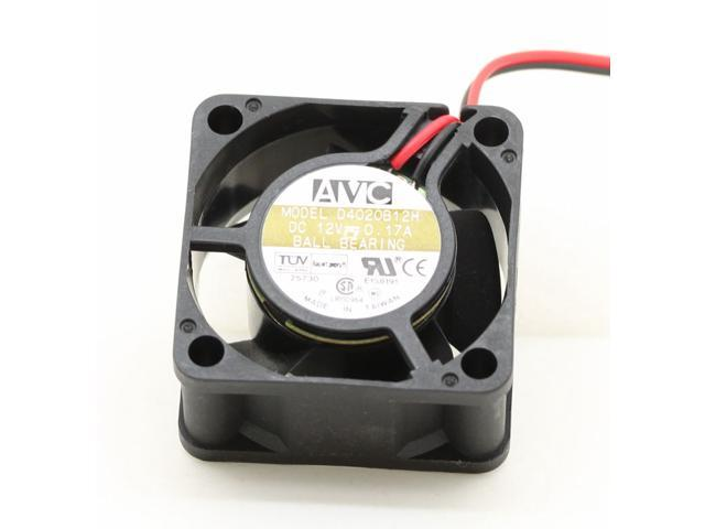 For AVC D4020B12H 4020 4cm 40mm 0.17A 2 pin DC 12V case silent cooling fans quiet