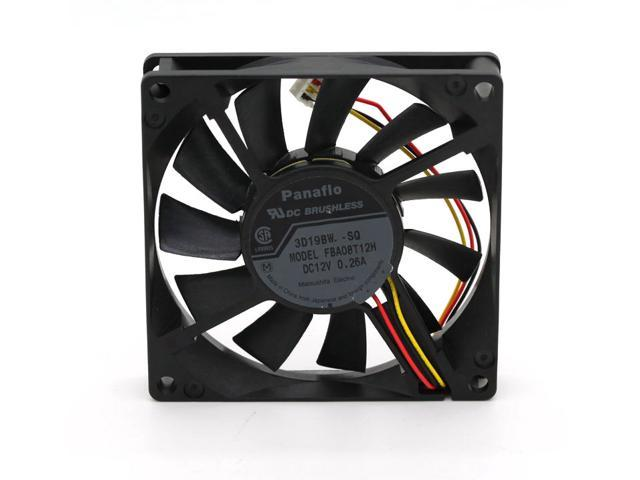 Laptop CPU Cooling Fan for Foxconn PVA080G12Q PVA080G12Q-P01-AD DC12V 0.65A 4Pin PWM 80x80x25mm Server Square Cooling Fan New and Original