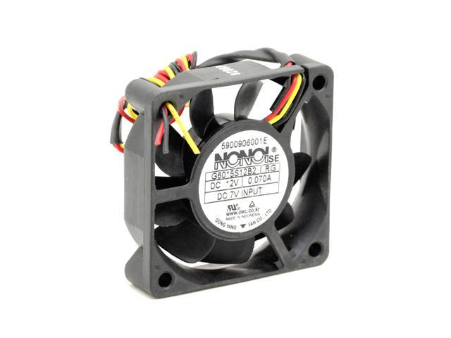 New original 12V 0.07A G6015S12B2-BA 60 60 15mm three-wire mute fan with interface DLP TV cooling fan