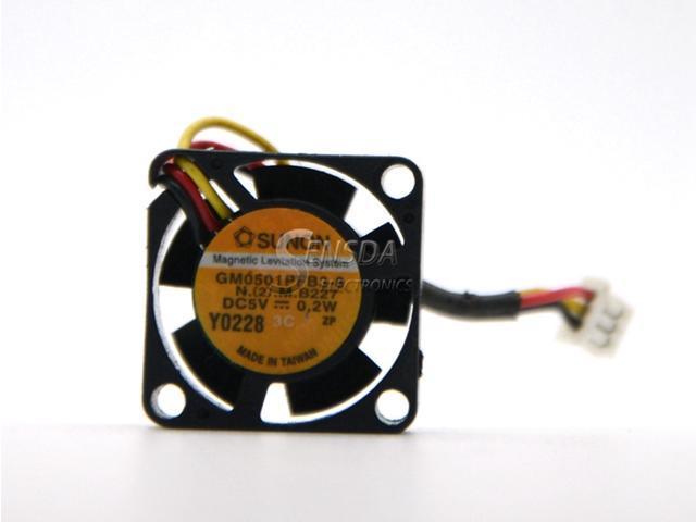 5x SUNON GM0501PFB3-8 5V 0.2W 20mm x 20mm x 10mm 2010 Mini DC Fan 3pin Connector