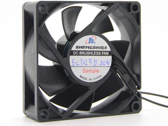 Sensda 70mm EC fan Dual Voltage 115V/230V 50Hz/60Hz 6W 7025 70*25mm  SDE7025BH axial case cooling Energy Saving computer case cooler (bare  wires) -