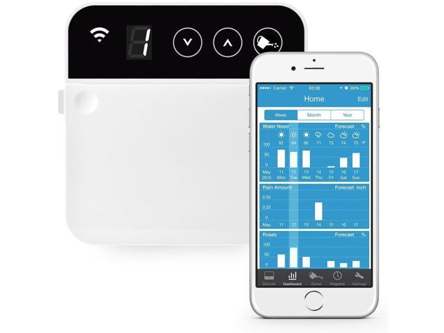 RainMachine Mini-8 2nd Generation Weather Aware Smart WiFi Irrigation Controller - 8 Zones. Simple Touch. NOAA, EPA Certified