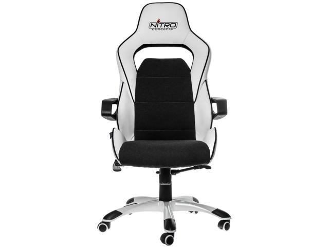 White And Black Evo Series Gaming Office Chair Soft Pu