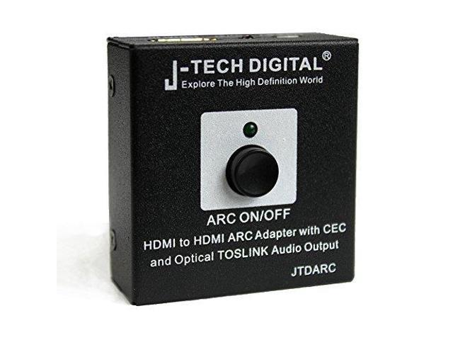 J-Tech Digital ® HDMI to HDMI ARC Adapter with CEC and Optical TOSLINK  Audio Output, HDMI ARC Audio Adapter | Audio Extractor for Home Theater