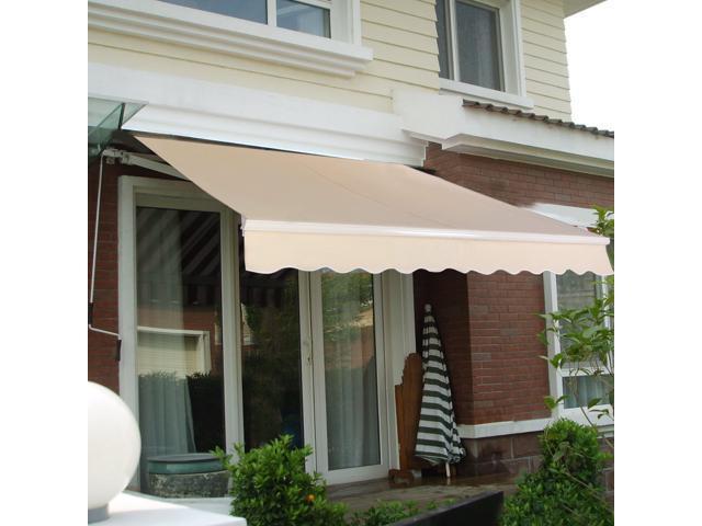 Manual Patio 8.2u0027×6.5u0027 Retractable Deck Awning Sunshade Shelter Canopy Outdoor Beige  sc 1 st  Newegg.com & Manual Patio 8.2u0027×6.5u0027 Retractable Deck Awning Sunshade Shelter ...