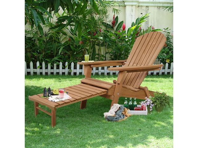 Outstanding Outdoor Foldable Wood Adirondack Chair Patio Deck Garden W Gmtry Best Dining Table And Chair Ideas Images Gmtryco