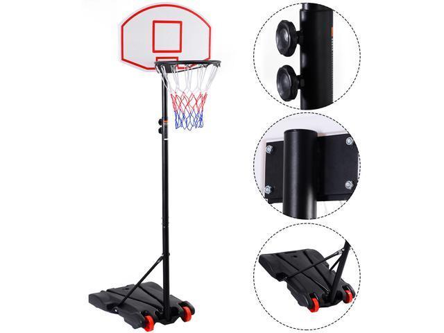 Adjustable Basketball Hoop System Stand Kid Indoor Outdoor Net Goal ...