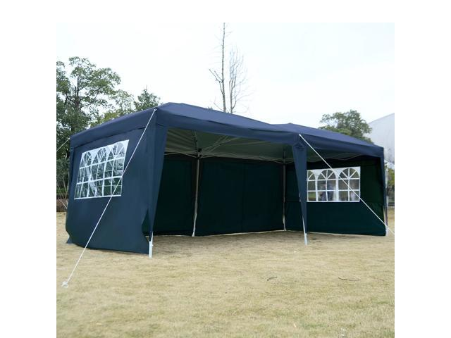 11c090c1b8 10'X20' EZ POP UP Tent Gazebo Wedding Party Folding Canopy Carry Bag  Cross-Bar Blue