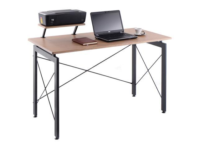 Computer Desk Pc Laptop Table W Printer Shelf Home Office Workstation Study