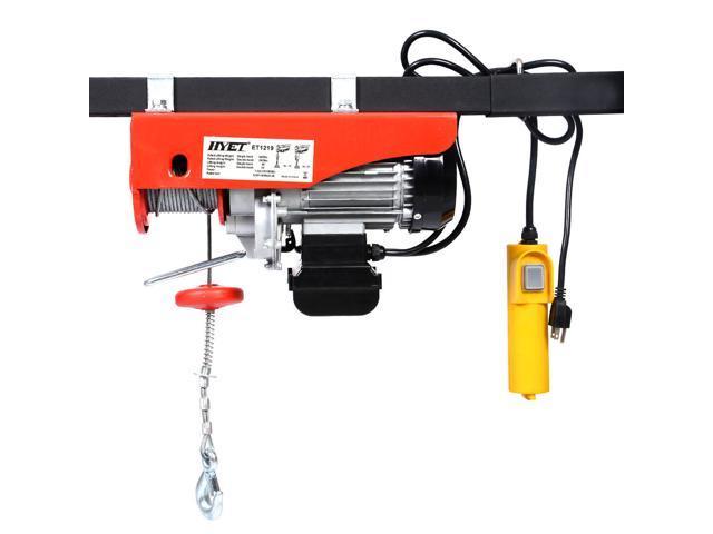 880lbs Mini Electric Wire Hoist Remote Control Garage Auto Shop ...
