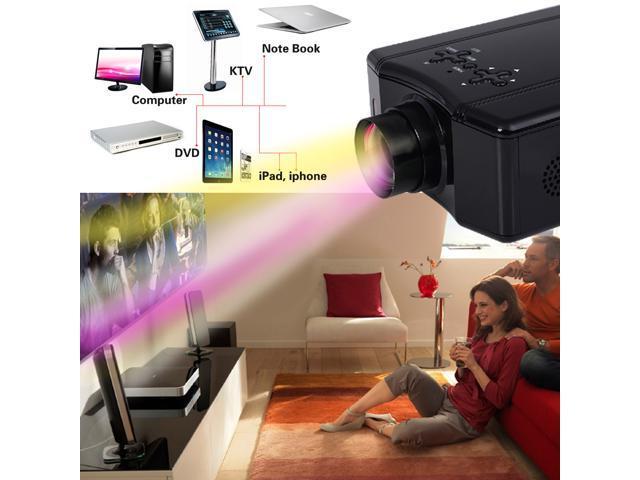 4000 Lumens HD 1080P Home Theater Projector 3D LED Portable SD HDMI AV USB  - Newegg com
