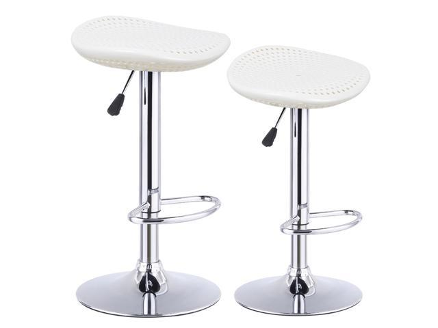 Groovy Set Of 2 Adjustable Abs Bar Stools Swivel Pub Kitchen Dining Chair Modern White Newegg Com Gmtry Best Dining Table And Chair Ideas Images Gmtryco