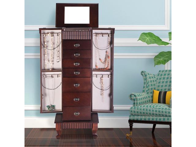 Jewelry Cabinet Armoire Box Storage Chest Stand Organizer