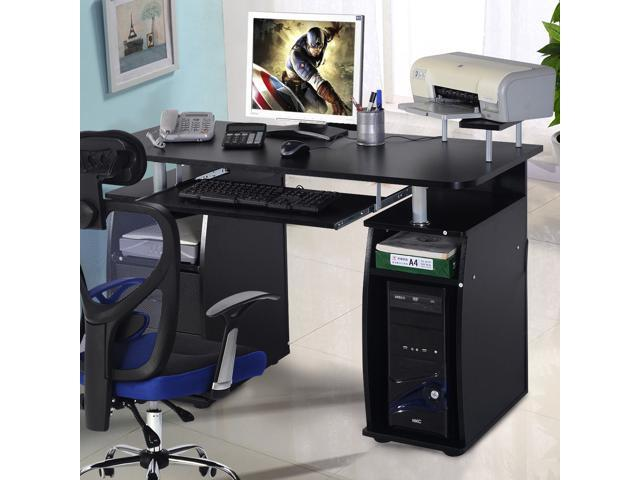 Computer Pc Desk Work Station Office Home Raised Monitor Printer Shelf Furniture
