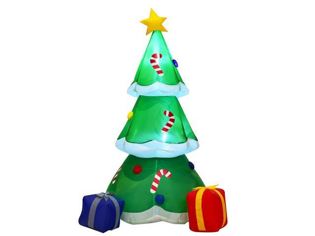 Lighted Christmas Boxes Decoration.6 Inflatable Decoration Christmas Tree With Gift Boxes Blow Up Lighted Outdoor Newegg Com