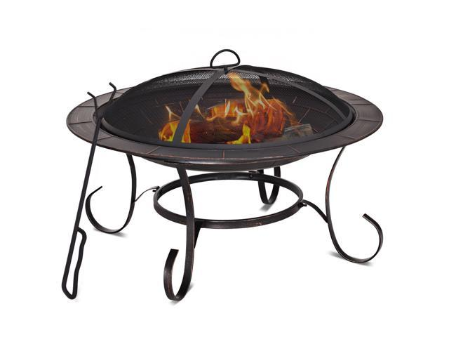 Portable 58,000 BTU Propane Patio Heater With /& COSTWAY Outdoor Gas Fire Pit