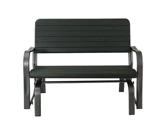 Awe Inspiring Outdoor Patio Swing Porch Rocker Glider Bench Loveseat Garden Seat Steel Andrewgaddart Wooden Chair Designs For Living Room Andrewgaddartcom