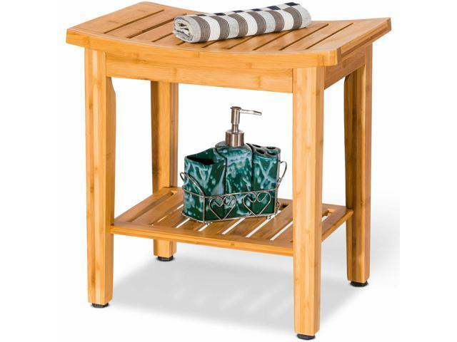 18 Bamboo Shower Seat Bench Bathroom
