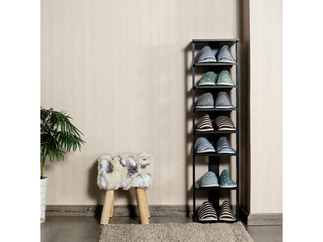 7 Tier Shoe Rack Practical Freestanding Shelves Storage Organizer Space Saver