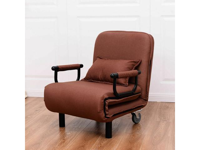 Convertible Sofa Bed Folding Arm Chair Sleeper Leisure Recliner Lounge  Couch New - Newegg.com