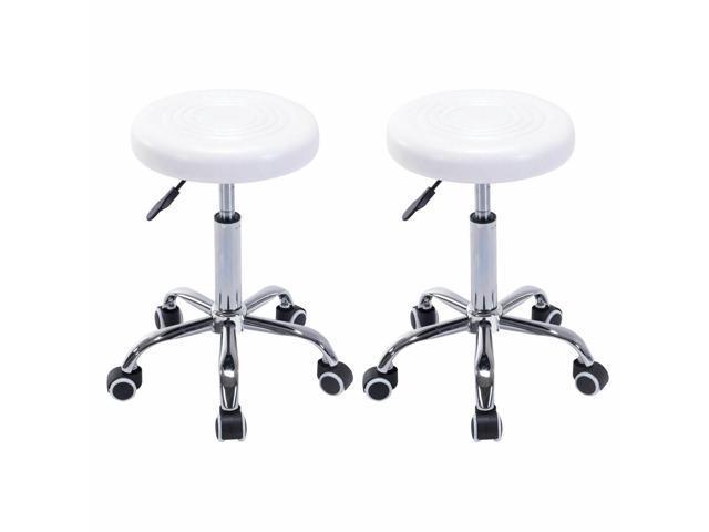 Super Set Of 2 Adjustable Hydraulic Rolling Swivel Stools Facial Salon Massage Tattoo Short Links Chair Design For Home Short Linksinfo