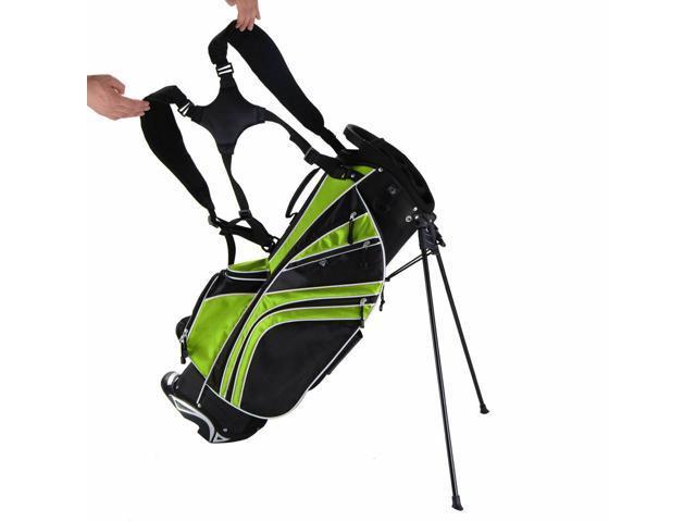 a34dfa74cb5c Golf Stand Cart Bag Club w/6 Way Divider Carry Organizer Pockets Storage4  Green - Newegg.com