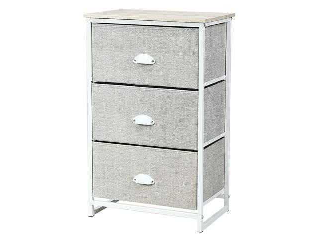 3 Drawer Nightstand Side Table Storage Tower Dresser Chest Home Office Furniture Newegg Com