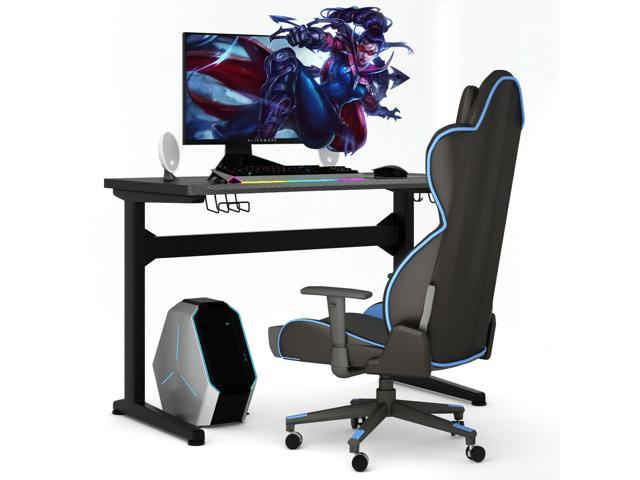 Outstanding Gaming Computer Desk Carbon Fiber Surface W Mousepad Cup Holder Headphone Hook Gmtry Best Dining Table And Chair Ideas Images Gmtryco
