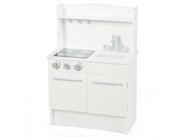 Kids Pretend Kitchen Playset Cooking Toys Toddler Christmas Cookware Gift  White - Newegg.com