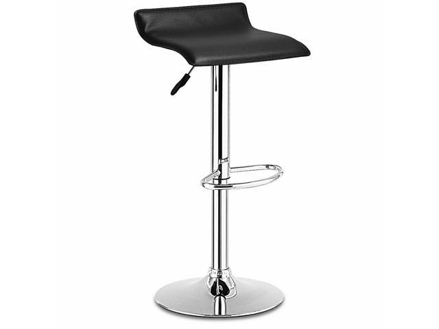 Fine 1 Pc Swivel Bar Stool Adjustable Pu Leather Backless Dining Chair White Newegg Com Pabps2019 Chair Design Images Pabps2019Com