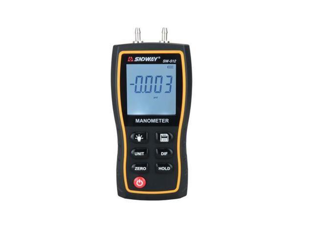 SNDWAY SW-512 Digital Manometer Air Pressure gauge 11 Unit Vacuum Pressure  Gauges differential natural gas pressure gauge meter measurement -
