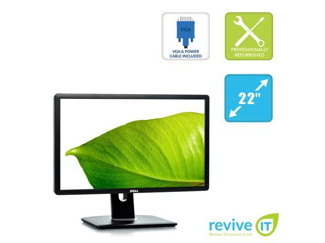 "Dell P2210T 22/"" Widescreen LCD Monitor 1680x1050  DVI DisplayPort VGA"