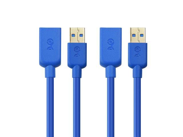 SuperSpeed USB 3.0 Type A to Micro-B Cable in Blue 3 Feet Cable Matters® 2 Pack