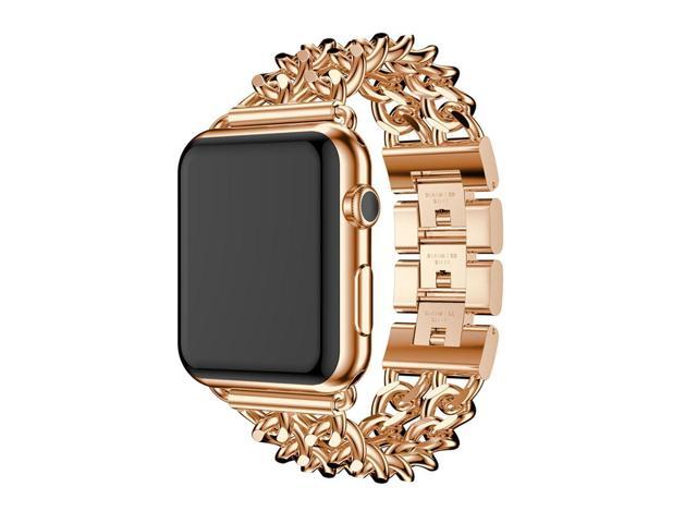 Ipm Chain Link Stainless Steel Apple Watch Band With Removable Links 38mm Rose Gold Newegg Com