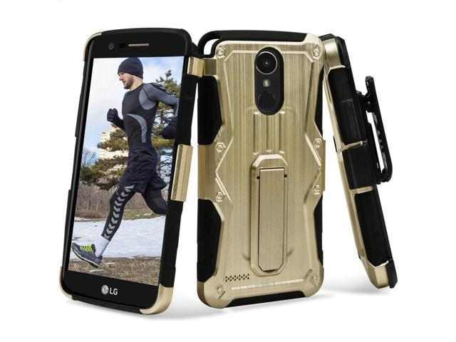Heavy Duty Dual Layer Hybrid Armor Case with Holster for LG Stylo 3 / Stylo  3 Plus - Gold - Newegg com