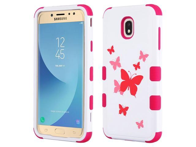 online store 148c5 aa00f Military Grade Certified TUFF Image Hybrid Armor Case for Samsung Galaxy J7  (2018) / J7 Refine - Butterfly Dancing - Newegg.com