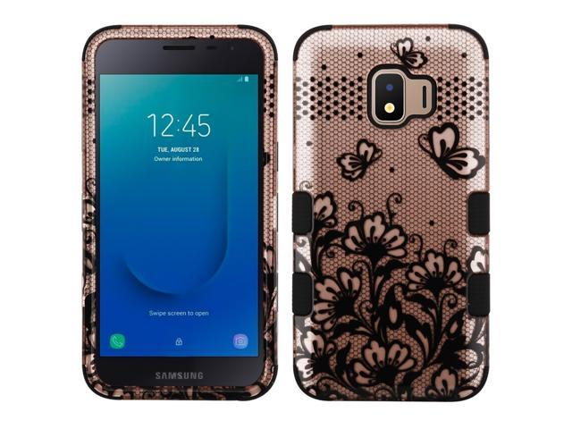 Military Grade Certified TUFF Hybrid Armor Case for Samsung Galaxy J2 / J2  Pure - Lace Flower Rose Gold - Newegg com