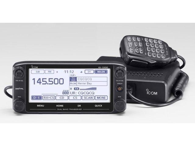 Icom ID-5100A Deluxe Dual Band Mobile w/ D-STAR/GPS, 2M/70cm, 50W -  Newegg com