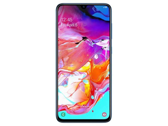 Samsung Galaxy A70 A705M 128GB DUOS GSM Unlocked Android Phone W/ Dual 32MP Camera (International Variant/US Compatible LTE) - Blue