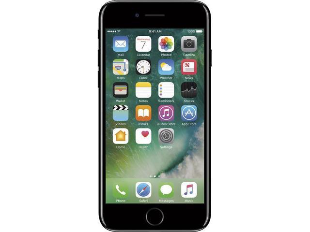 Apple iPhone 7 128GB Unlocked GSM Quad-Core Phone w/ 12MP Camera - Jet Black