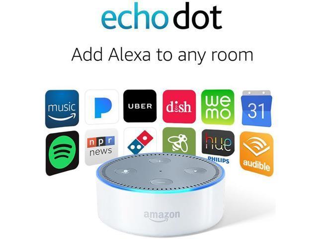 Refurbished Amazon Echo Dot 2nd Generation White Newegg Com