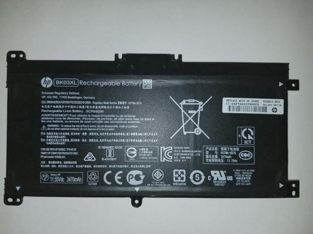 New Genuine BK03XL HSTNN-UB7G TPN-W125 916366-541 916811-855 for hp Series  - Newegg com