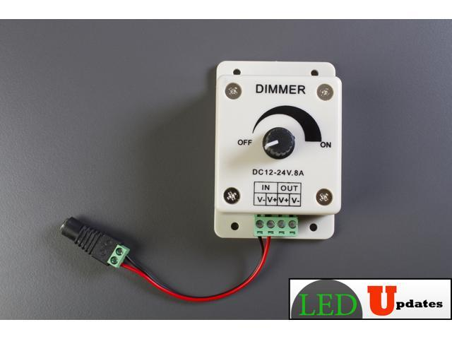 12v 8a Led Dimmer Switch Wiring Tutorial Wiring Harness For ... Ac Adapter V Wiring Diagram on