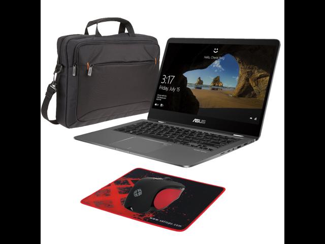 "ASUS ZenBook Flip 14 UX461FN-DH74T (i7-8565U, 16GB RAM, 512GB NVMe SSD, NVIDIA MX150 2GB, 14"" Full HD, Windows 10) Touchscreen Laptop - Slate Grey"