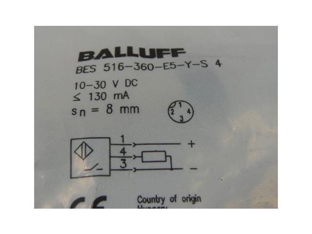 Balluff BES-516-360-E5-Y-S4 Inductive Proximity Sensor 18MM - Newegg ca