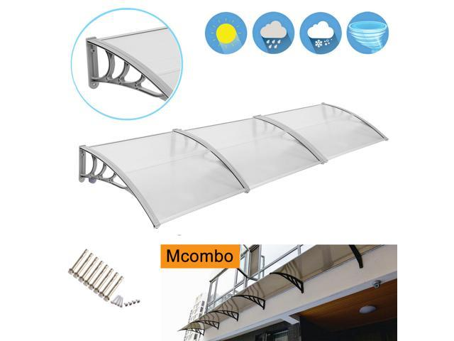 Mcombo 40 X120 Window And Door Outdoor Awning Patio Porch Cover Grey Metal Frame Frosted Polycarbonate Sheet Home Garden Yard Outdoor Living Garden Structures Shade Awnings Canopies Awning Window Newegg Com