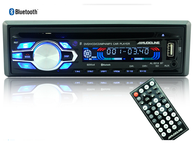 5014BT 12V Fm Receiver Car Audio Stereo with Mp3 Radio Player, USB SD  Input, AUX Receiver and Remote Control In-Dash DVD CD Receiver with  Mixtrax,